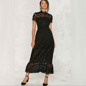 Foxiedox Elodie Pleated Midi Dress NWT